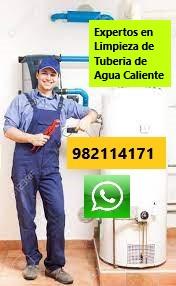 Limpieza de tuberia de agua caliente y terma en Miraflores